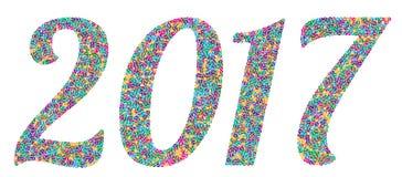 Nummer 2017 twee duizend zeventien Stock Afbeeldingen