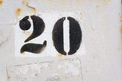 Nummer twintig Stock Foto