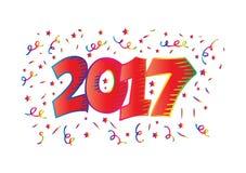 Nummer 2017 typografie Vector Illustratie