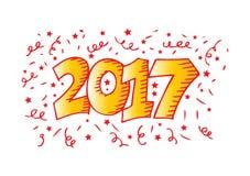 Nummer 2017 typografie Stock Illustratie