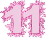 Nummer 11, vektordesignbeståndsdel Royaltyfri Fotografi
