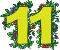 Nummer 11, vektordesignbeståndsdel Royaltyfria Bilder