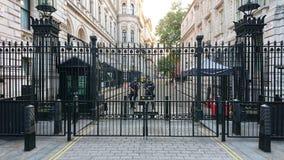 Nummer 10 verslaande straat Londen stock foto's