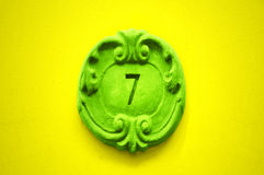 Nummer Zeven Stock Foto