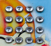 Nummerbotten av den gamla telefonen Arkivfoton