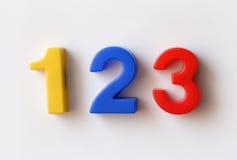 Nummerieren Sie Kühlraummagneten stockfotos