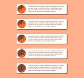 Nummerieren Sie Liste, die Ikonen, infographic, Illustration stockfotos