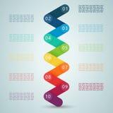 Nummerieren Sie Schritte 3d Infographic 1 bis 10 D Stockbild