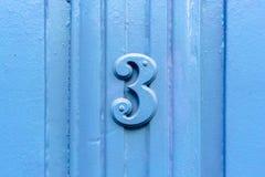 Nummerieren Sie Stühle des Strandes 3 Lizenzfreies Stockfoto