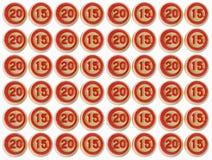 Nummerieren Sie 2015 von einem Lottogegenstand mit Beschneidungspfad Lizenzfreie Stockfotos