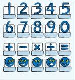 Nummeriert Blau Lizenzfreies Stockfoto