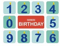 Nummeriert Geburtstag stock abbildung
