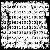 Nummeriert grunge Hintergrund Lizenzfreie Stockfotografie