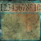Nummeriert grunge Hintergrund Stockfoto