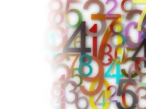 Nummeriert Hintergrund Lizenzfreie Stockbilder