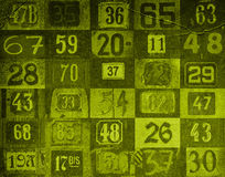 Nummeriert Hintergrund Stockfotos