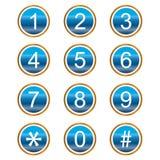 Nummeriert Ikonen Stockbilder
