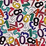 Nummeriert nahtloses Muster Hand gezeichnete vektorabbildung Lizenzfreies Stockbild