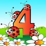 Nummeriert serie für Kinder - #04 Lizenzfreie Stockbilder