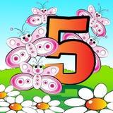 Nummeriert serie für Kinder - #05 Lizenzfreies Stockfoto