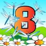 Nummeriert serie für Kinder - #08 Stockbilder