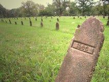 Nummerierte Gräber Stockfotos