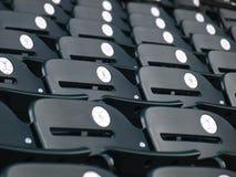 Nummerierte Sitze Stockfotos