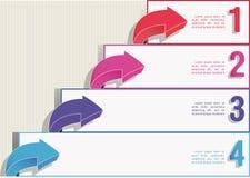 Nummerierte Web-Fahnen Stockbilder