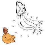 Nummerlek (bananen) Royaltyfri Foto