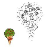 Nummerlek (den blom- buketten) Royaltyfria Bilder