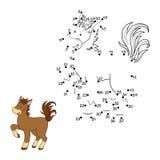 Nummerlek (hästen) stock illustrationer