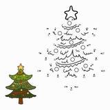Nummerlek (julträdet) Royaltyfri Bild
