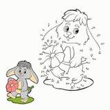 Nummerlek (kanin) Arkivbilder