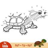 Nummerlek, lek för barn, dammglidare stock illustrationer
