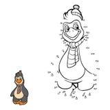 Nummerlek (pingvinet) Fotografering för Bildbyråer