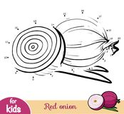 Nummerlek, utbildningslek för barn, röd lök royaltyfri illustrationer