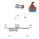 Nummerlek, yacht vektor illustrationer