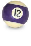 nummerpöl för 12 boll Royaltyfri Fotografi