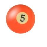 nummerpöl för 5 boll Arkivfoton