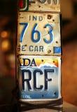 Nummerplaat royalty-vrije stock afbeeldingen