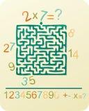 Nummers Maze Arkivbilder