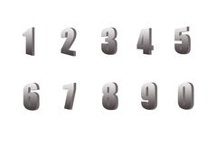 nummersilver Arkivbilder