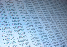 nummertabell Arkivbild
