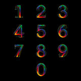 Nummeruppsättning  Arkivbild