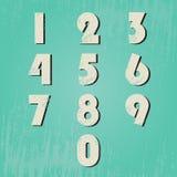 Nummeruppsättning med grunge Arkivbild