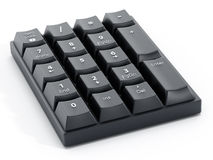 Numpad with number keys Stock Photo