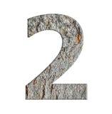 Numrera bokstaven från skällträdet som isoleras på vit bakgrund Royaltyfria Foton