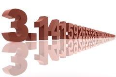 numrera pi Arkivfoton