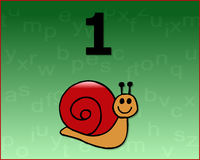 numrera snailen Royaltyfria Bilder