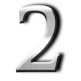 Numrera två Arkivbild
